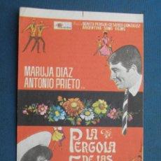Flyers Publicitaires de films Anciens: MA DE MANO . LA PERGOLA DE LAS FLORES . CON PUBLICIDAD .( VER FOTO ADICIONAL ). . Lote 45030500