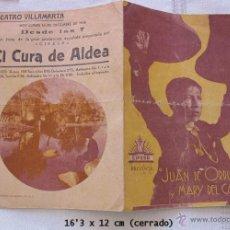 Cine: EL CURA DE ALDEA FOLLETO DE CINE VILLAMARTA JEREZ 1936. Lote 45031129