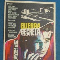Folhetos de mão de filmes antigos de cinema: PROGRAMA CINE . GUERRA SECRETA , CON PUBLICIDAD , CINE DE MATARÓ - VER FOTO ). . Lote 45034905