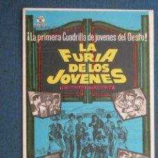Folhetos de mão de filmes antigos de cinema: PROGRAMA DE MANO . LA FURIA DE LOS JOVENES . CON PUBLICIDAD .( VER FOTO ADICIONAL ). . Lote 45036099