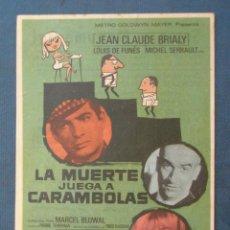 Flyers Publicitaires de films Anciens: PROGRAMA DE MANO . LA MUERTE JUEGA A CARAMBOLAS . CON PUBLICIDAD .( VER FOTO ADICIONAL ). . Lote 45045027