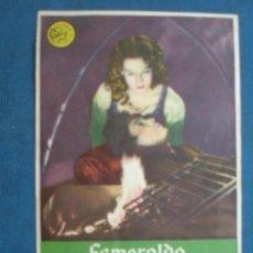 Folhetos de mão de filmes antigos de cinema: ANTIGUO PROGRAMA DE CINE , ESMERALDA LA ZÍNGARA . CON PUBLICIDAD EN EL DORSO. . Lote 45051223