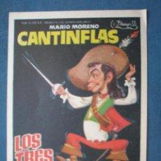 Flyers Publicitaires de films Anciens: PROGRAMA DE MANO . LOS TRES MOSQUETEROS . SIN PUBLICIDAD . . Lote 45053154