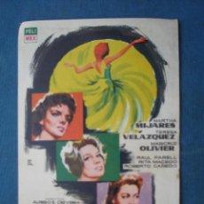 Folhetos de mão de filmes antigos de cinema: PROGRAMA DE MANO .QUINCE PRIMAVERAS , SIN PUBLICIDAD .. Lote 45054407