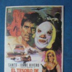 Folhetos de mão de filmes antigos de cinema: PROGRAMA DE MANO .EL TESORO DE MOCTEZUMA , SIN PUBLICIDAD .. Lote 45054454