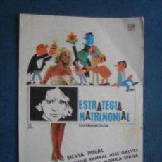 Cine: PROGRAMA DE MANO . ESTRATEGIA MATRIMONIAL . SIN PUBLICIDAD .. Lote 45060505