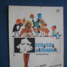 Cine: PROGRAMA DE MANO . ESTRATEGIA MATRIMONIAL . SIN PUBLICIDAD .. Lote 45060507