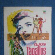 Folhetos de mão de filmes antigos de cinema: PROGRAMA DE MANO . OJOS TAPATIOS . SIN PUBLICIDAD . ( VER FOTO ADICIONAL) . Lote 45060689