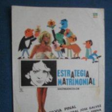 Cine: PROGRAMA DE MANO . ESTRATEGIA MATRIMONIAL . SIN PUBLICIDAD .. Lote 45060716