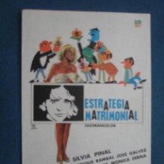 Cine: PROGRAMA DE MANO . ESTRATEGIA MATRIMONIAL . SIN PUBLICIDAD .. Lote 45060719