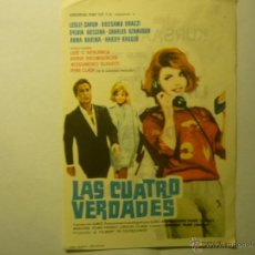 Cine: PROGRAMA LAS CUATRO VERDADES.-LESLIE CARON.-PUBLICIDAD KURSAAL REUS. Lote 45098093