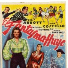 Cine: PROGRAMA CINE - EL FANTASMA HUYE - BUD ABBOTT - LOU COSTELLO - CINE VICTORIA . Lote 45149778