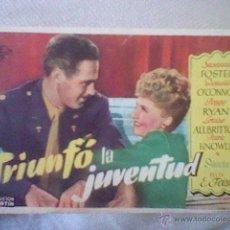 Cine: FOLLETO MANO PROGRAMA TRIUNFO LA JUVENTUD CINE NIZA . Lote 45155730