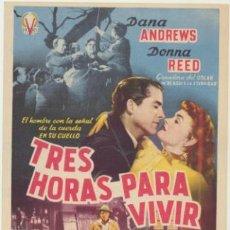 Cine: TRES HORAS PARA VIVIR. SENCILLO DE VICTORY FILMS. . Lote 45164967