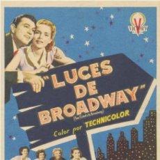 Cine - Luces de Broadway. Sencillo de Victory Films. - 45173207