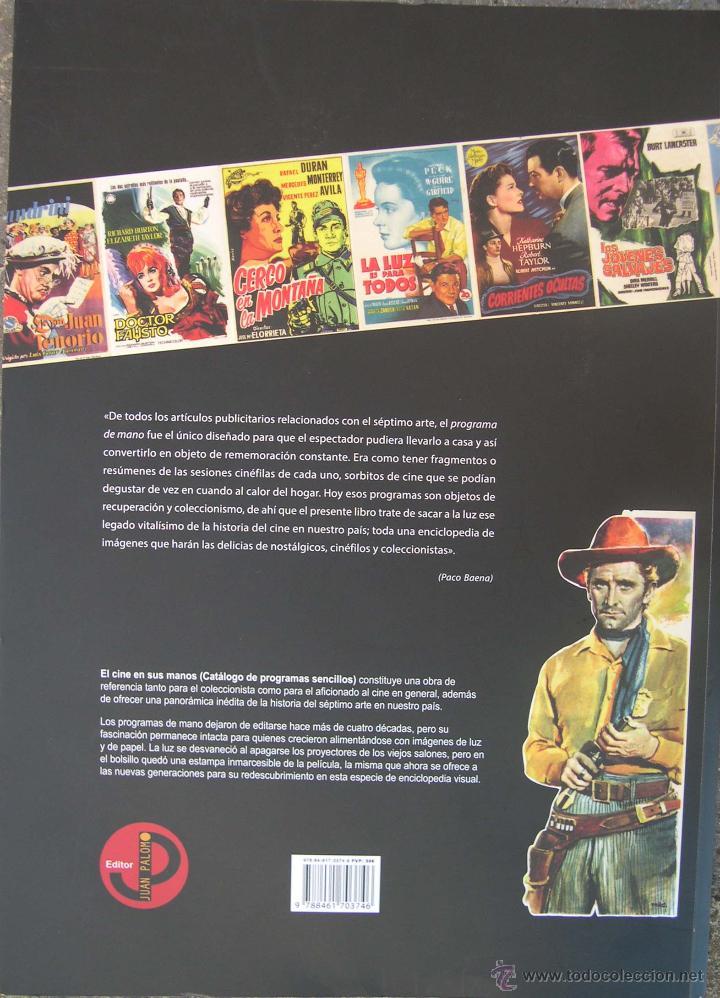 Cine: EL CINE EN SUS MANOS (Catálogo de programas sencillos vol. 1) Pepe Alfaro - Foto 3 - 218021941