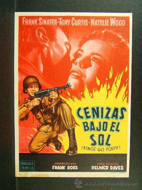 CENIZAS BAJO EL SOL-DELMER DAVES-FRANK SINATRA-TONY CURTIS-NATALIE WOOD-CINE ESPLAI-CINEMA-1960 (Cine - Folletos de Mano - Bélicas)