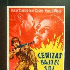 Cine: CENIZAS BAJO EL SOL-DELMER DAVES-FRANK SINATRA-TONY CURTIS-NATALIE WOOD-CINE ESPLAI-CINEMA-1960 . Lote 45215966