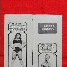 Foglietti di film di film antichi di cinema: LOS ASESINOS DE LA LUNA DE MIEL, DOBLE PUBLI CINEMA 1970,SHIRLEY STOLER, 15,5 X 22 CMS. Lote 45217319