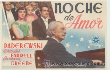 NOCHE DE AMOR. SENCILLO DE ESTRELLA AZUL. ¡IMPECABLE! (Cine - Folletos de Mano - Comedia)