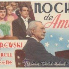 Cine: NOCHE DE AMOR. SENCILLO DE ESTRELLA AZUL. ¡IMPECABLE!. Lote 45217812