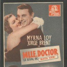 Cine: MLLE.DOCTOR LA RIVAL DE MATA HARI - TARJETA (C-1525). Lote 45247751