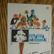 Cine: PROGRAMA DE MANO . ESTRATEGIA MATRIMONIAL . SIN PUBLICIDAD .. Lote 45252831
