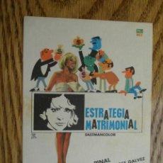 Cine: PROGRAMA DE MANO . ESTRATEGIA MATRIMONIAL . SIN PUBLICIDAD .. Lote 45252834