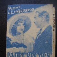 Cine: PADRE BROWN DETECTIVE, WALTER CONNOLLY, CINE ASTORIA. Lote 45335522