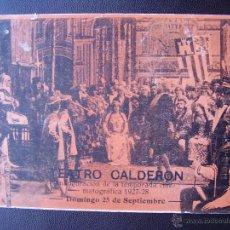 Cine: CRISTOBAL COLON Y SU DESCUBRIMIENTO DE AMERICA, TEATRO CALDERÓN. Lote 45335781