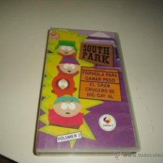 Cine: VHS SOUTH PARK FORMULA PARA GANAR PESO Y EL GRAN CRUCERO DE BIG GAY AL VOLUMEN 2 CAJA-4. Lote 45337500