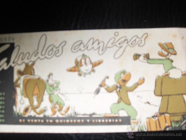 Cine: rarisimo folleto de mano saludos amigos walt disney - Foto 2 - 45373401