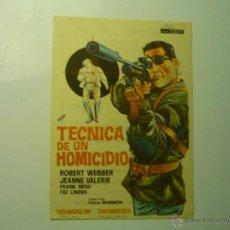 Cinema - programa tecnica de un homicidio.--robert webber.-cine buenos aires- sestao??? - 45427818