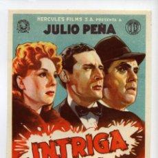 Cine: INTRIGA, CON JULIO PEÑA.. Lote 267862439