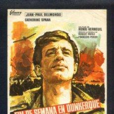 Cine: *FIN DE SEMANA EN DUNKERQUE* CON JEAN-PAUL BELMONDO. SENCILLO, SIN PUBLICIDAD.. Lote 45469449