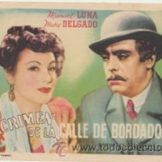 Cine: EL CRIMEN DE LA CALLE DE BORDADORES. SENCILLO DE ASTORIA FILMS.. Lote 178604176
