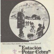 Cine: ESTACIÓN POLAR CEBRA. DOBLE DE MGM.. Lote 45534996