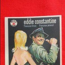 Cine: EL FBI Y... LAS DAMAS, F.B.I. IMPECABLE SENCILLO 1962, EDDIE CONSTANTINE, CON PUBLICIDAD AVENIDA. Lote 45535177