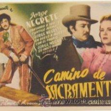 Cine: CAMINO DE SACRAMENTO. SENCILLO DE HISPANO MEXICANA.. Lote 178603681