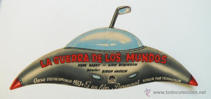 FABULOSO Y UNICO FOLLETO MANO CINE PELICULA LA GUERRA DE LOS MUNDOS OVNI TROQUELADO 1953 MAVI (Cine - Folletos de Mano - Ciencia Ficción)