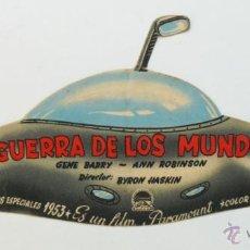 Cine: FABULOSO Y UNICO FOLLETO MANO CINE PELICULA LA GUERRA DE LOS MUNDOS OVNI TROQUELADO 1953 MAVI . Lote 45559247