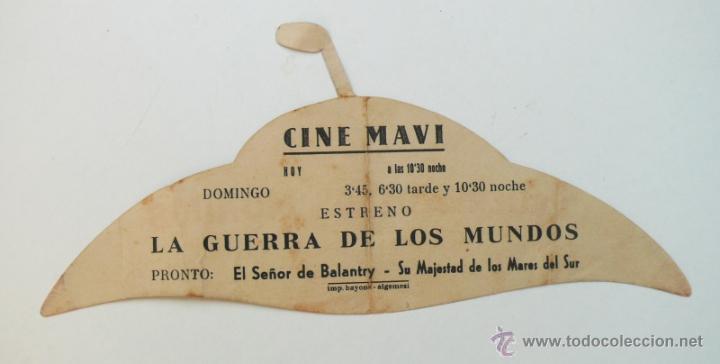 Cine: FABULOSO Y UNICO FOLLETO MANO CINE PELICULA LA GUERRA DE LOS MUNDOS OVNI TROQUELADO 1953 MAVI - Foto 2 - 45559247