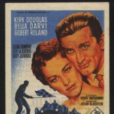 Foglietti di film di film antichi di cinema: P-4411- HOMBRES TEMERARIOS (SOLIGÓ) (CINE COLISEUM - SANTANDER) (KIRK DOUGLAS - BELLA DARVI). Lote 45610149