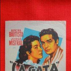 Cine: LA GATA, SENCILLO ORIGINAL SOLIGO, JORGE MISTRAL AURORA BAUTISTA, SIN PUBLICIDAD. Lote 45628122