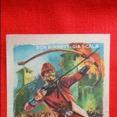 Cine: EL TRIUNFO DE ROBIN HOOD, SENCILLO ORIGINAL, DON BURNETT GIA SCALA, SIN PUBLICIDAD. Lote 45629257