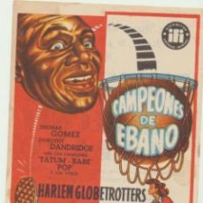 Cine: CAMPEONES DE EBANO. SENCILLO DE IFI: CINE ESPAÑOL - LIÑOLA 1954.. Lote 45640119