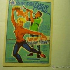 Cine: BUENAS NOCHES PARIS...DANIEL GELIN .-PUBLICIDAD MAJESTIC. Lote 45648839