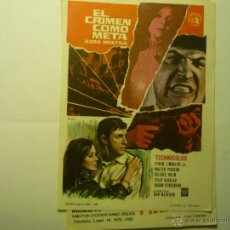 Cine: PROGRAMA EL CRIMEN COMO META.--TELLY SAVALAS. Lote 45654415