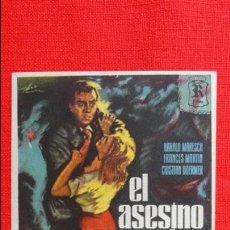 Cine: EL ASESINO DE LA AUTOPISTA, IMPECABLE SENCILLO, HARALD MARESCH FRANCES MARTIN, CON PUBLICIDA KURSAAL. Lote 45659373