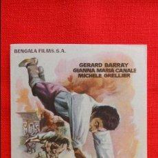 Cine: EL CABALLERO DE GASCUÑA, IMPECABLE SENCILLO, GERARD BARRAY GIANNA MARIA CANALE, PUBLICIDAD KURSAAL. Lote 45659581